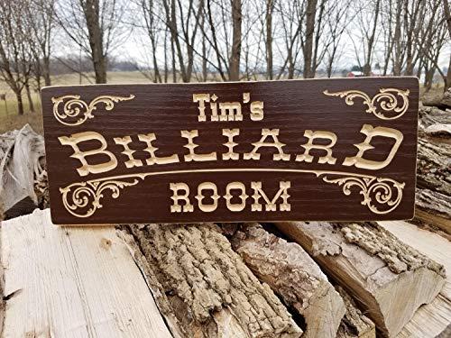Evan332Eddie Personalisiertes Billard Spielzimmer Saloon Schild Mann Höhle Schild Pool Tisch Schild Holz Billiard Schilder Sprechen leicht Spielzimmer Schilder