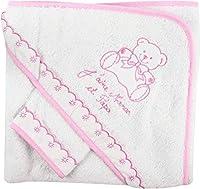 Ω NOSBEBES Fabriqué en EUROPE La serviette prolonge votre bain en enveloppant votre bébé dans une confortable serviette brodée avec un bonnet, ce qui rend l'expérience de la salle de bain plus agréable pour vous et votre petit. Ω Beau coloris avec In...