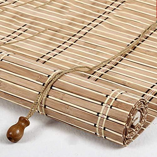 Ti-Fa Contraventana de bambú, Sombra Romana 70% de tasa de sombreado con Elevador Adecuado para Ventanas, Sala de Estar, Cocina, Dormitorio,60 * 135cm