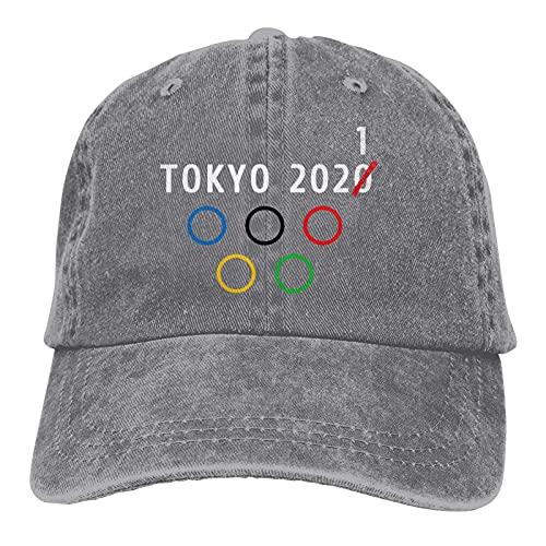 Yaxinduobao Tokio 2021 Anillos olímpicos Gorra de béisbol de Mezclilla Unisex Sombreros de papá Ajustables Lavados Retro
