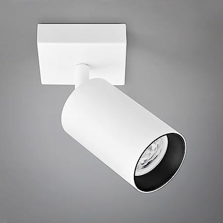 Plafonnier LED Spot Orientable, Plafonnier Luminaire ampoule LED GU10 5W incluse, applique murale LED 400lm Blanche chaude 3000K Éclairage de Plafond pour Salon Chambre Cuisine