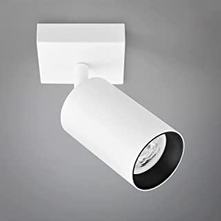 Plafonnier LED Spot Orientable, Plafonnier Luminaire ampoule LED GU10 5W incluse, applique murale LED 400lm Blanche chaude...