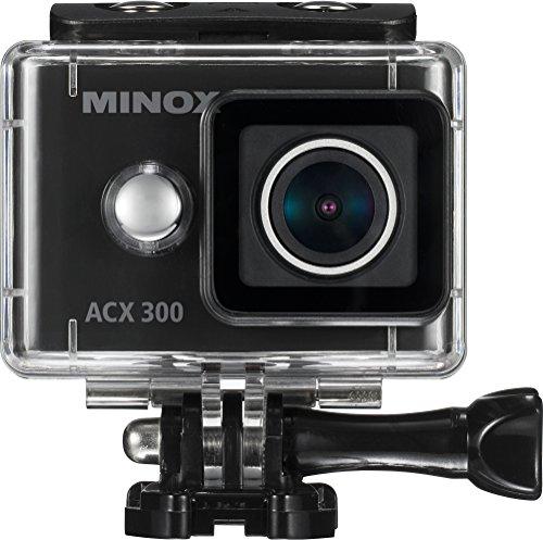 MINOX ACX 300 Action Cam | Akkubetriebene Actionkamera mit Unterwasser-Gehäuse, Fernbedienung, Bildstabilisator, Weitwinkel, Wifi, 12MP und 60 fps