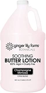 Ginger Lily Farms Botanicals Soothing Butter Lotion for Dry Skin, Champagne Mimosa, 100% Vegan & Cruelty-Free, Citrus Blen...