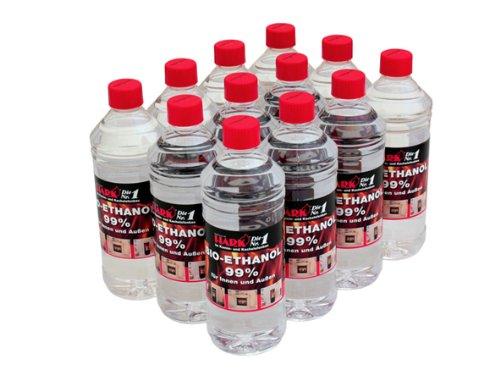 HARK Ethanol-Brennstoff 12 x 1 Liter Bioethanol (3,25EUR/L)