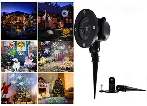 LSZ Copo de nieve proyector Luces de Navidad al aire libre, LED de luz del proyector al aire libre Tormenta de nieve giratoria nevadas de la lámpara de proyección con teledirigido for la celebración d