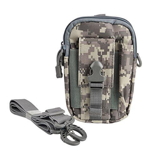 Faletony Klein Outdoor Reisen Sport Taktische Tasche Hüfttasche Bauchtasche Gürteltasche für Camping Wandern Radfahren Klettern und Reisen
