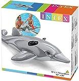 Sea World Delfín hinchable para montar en caballo, compatible con Intex 175 x 66 cm para playa o piscina