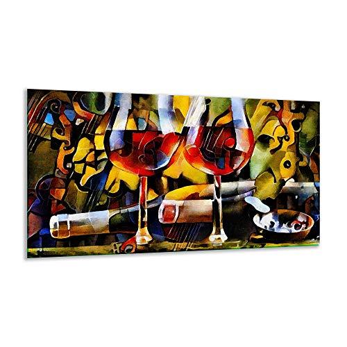 Fornuis afdekplaat Ceranfeld abstract bont 1 stuk 90x52 kookplaten inductie