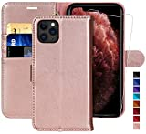 MONASAY iPhone 11 Pro Wallet Case,5.8-inch [Glass Screen