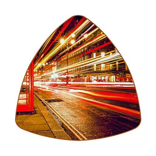 Bennigiry Juego de 6 posavasos de piel con diseño de cabina de teléfono rojo en Londres, resistentes al calor, para taza de café, taza de cristal, para colocar