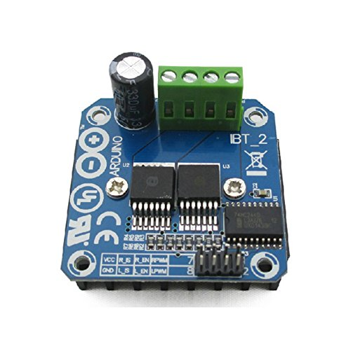JZK® BTS7960B 43A High-power Doppelte DC Motor Driver Motortreiber Schrittmotor Treiber Modulplatine H-Bridge PWM Modul Board für Smart Car Arduino