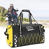 Kemimoto Motorcycle Dry Bag 50L, Waterproof Motorcycle Duffel Bag Motorcycle Luggage Bag Motorcycle Tail Bag Travel Bag Back Seat Rack Trunk Bag for Motorcycle Trip Camping Rainproof - Yellow