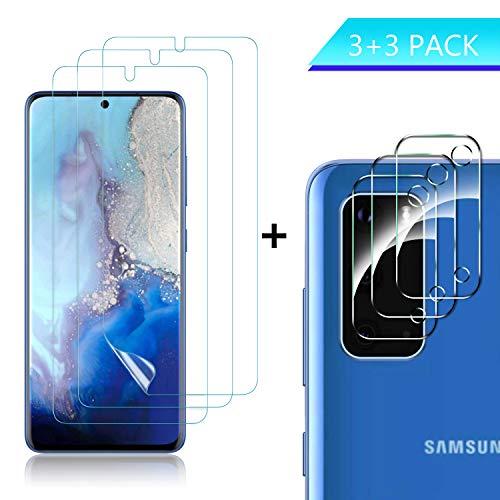 MSOVA Displayschutzfolie für Samsung Galaxy s20 Plus+Kamera Displayschutzfolie,Samsung Galaxy s20Plus HD Weicher Flexibler TPU Film Displayschutzfolie Klar(3Stücks)