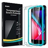 ESR Protector de Pantalla Cristal Templado para iPhone 8/7/6/6s [2 Unidades][Marco de Instalación Fácil][Cristal Templado Premium] [Compatible con Funda][Compatible iPhone 8/7/6/6s]
