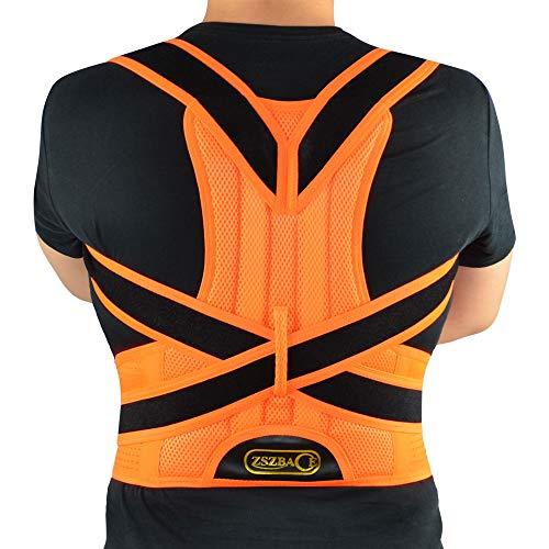 ZSZBACE Haltungskorrektur für Männer und Frauen, Rückenstütze Bietet Lordosen- und Rückenstütze für Büro und Sport, Korrigiert Buckel und Lindert Rückenschmerzen, 5 Größen (XL)