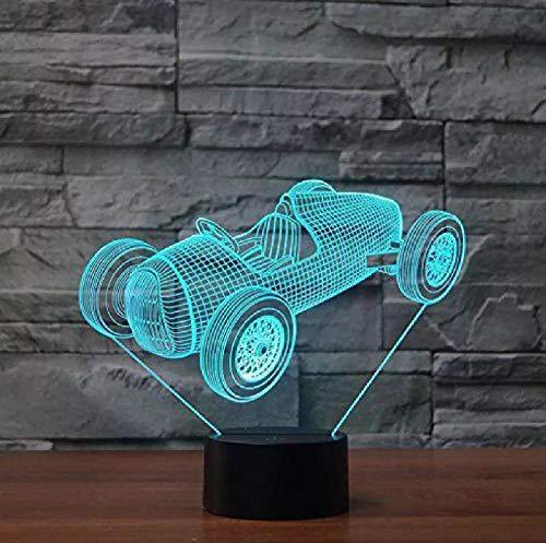 Interruptor De Luz Nocturna 3D Para Motocicleta Lámpara De Mesa Usb Led Visual 3D Con Cambio De 7 Colores Para Niños Novedad Lámpara Led 3D Luminaria