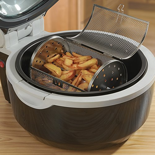 Cooks Professional Air Fryer Halogen Oven Rotisserie with Digital LCD Display, Healthy Oil Free Low Fat Cooking, 10L, 1300W & 9 Accessories