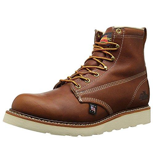 Thorogood 6 inches Plain Toe Work Boot 814-4355, Herren Stiefel / Bootsschuh, braun, 42 EU / 8 UK
