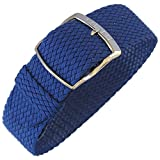 Eulit Panama 20mm Royal Blue Perlon Watch Strap