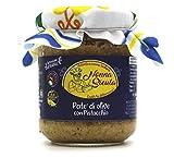 Patè di Olive Siciliane con Pistacchio prodotta in Sicilia (180g) come da tradizione dell'antica ricetta Artigianale della Nonna Sicula - Prodotti Tipici Siciliani Malaseno