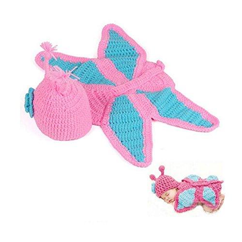 CuteOn Carino Farfalla Stile Bambino Neonato Crochet vestiti del bambino Fotografia Props