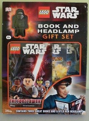 Lego Star Wars Books, Mini Figure and Headlamp Book Light Gift Set Darth Vader