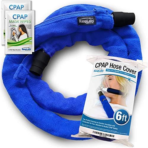RespLabs CPAP-Schlauchabdeckung mit Reißverschluss - Passend für alle Schlauchtypen, 6 Fuß - Wiederverwendbar, Komfortvlies, Schlauchisolator. Super Weicher, Waschbarer, Atmungsaktiver Bezug