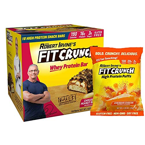 FITCRUNCH Snack Size Protein Bars | Designed by Robert Irvine |...