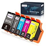 OfficeWorld Remanufactured Ink Cartridege Replacement for Epson 302 XL 302XL Used for Expression Premium XP-6000 XP-6100 Printer, 5 Pack (1 Photo Black, 1 Black, 1 Cyan, 1 Magenta, 1 Yellow)