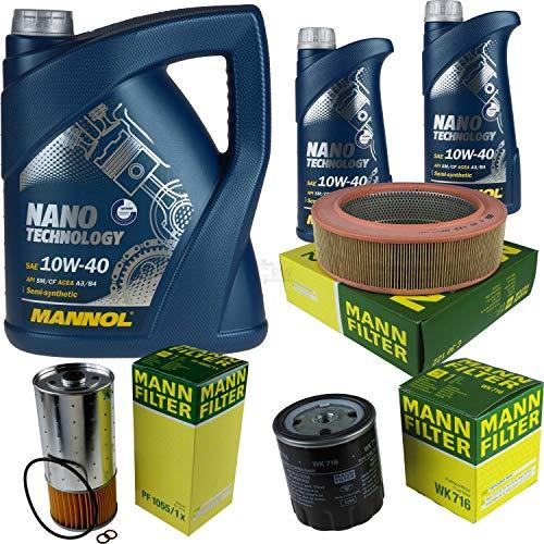 Mannol 7 L Nano Technology 10W-40 Aceite de motor + filtro MANN-FILTER Mercedes Combi 240 TD