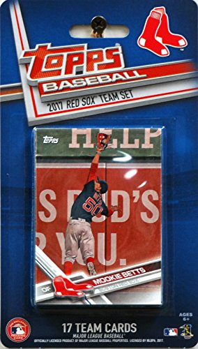 Boston Red Sox 2017 Topps Factory Sealed Limited Edition 17 Card Team Set with Dustin Pedroia Andrew Benintendi Mookie Betts Plus (2018 World Series Champions)