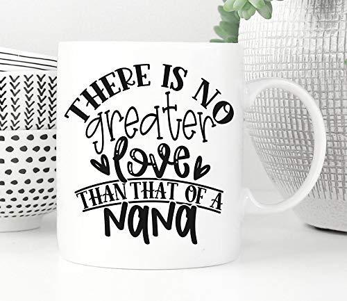 Taza para nana, regalo de maná para niños, regalo de Navidad, regalo para el día de la madre de la abuela, taza de café, regalo para nana, mejor nana, cumpleaños de nana, 445 ml