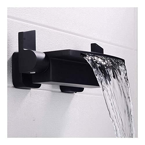 Grifo Lavabo Cascada Empotrar en la pared oculta Cuarto de baño del grifo del lavabo de la cascada sola manija dual contral grifo de la bañera de hidromasaje montado en la pared Mezclador Tap