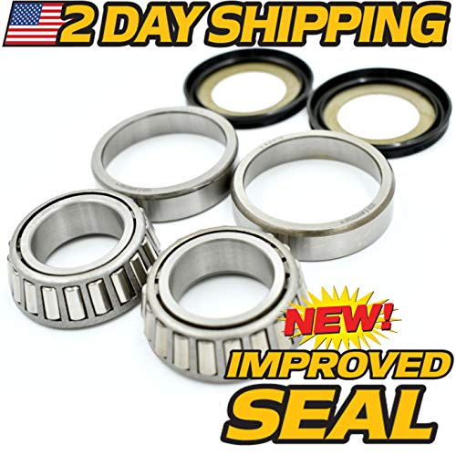 2 Day Ship - Drag Neck Stem Post Bearing & Seal Kit Fits Harley OEM 48300-60 48315-60, HD Switch