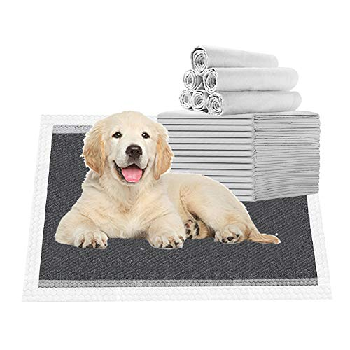 Nihao Honey Black Charcoal Puppy Pads | Puppy Potty Training Pads That Absorb | Carbon Dog Pee Pad Black 25 Pack (18x24 Carbon)