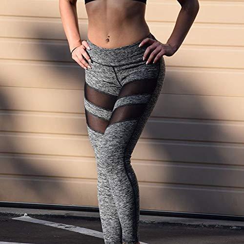 NSYJK Yoga broek Yoga Broek Vrouwen Workout Fitness Hardlopen Leggings Broek Jumpsuit Kleding Womens Slim Lange Mesh Patchwork Sport Leggings