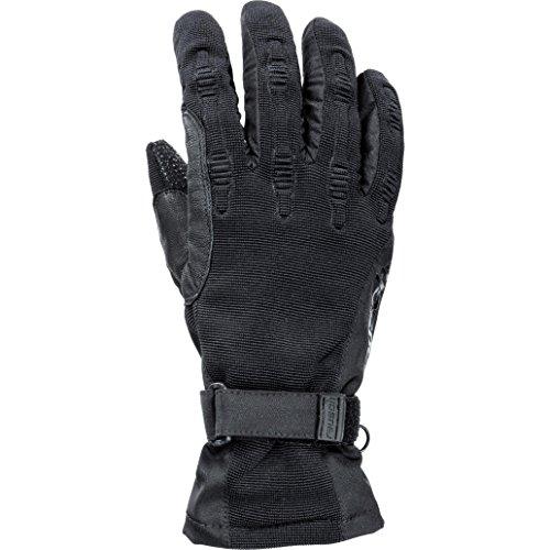 Reusch Motorradhandschuhe kurz Motorrad Handschuh Damen Sommertouren Textilhandschuh 1.0, Weitenregulierung, Lederverstärkung, mit Leder gedoppelt, Schwarz, M