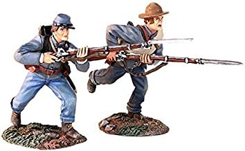 W. Britains American Civil War 31229 Confederate Infantry Charging with Bayonets Pewter 1:30 Scale