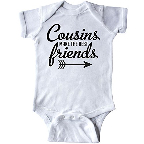 inktastic Cousins Make The Best Friends with Arrow Infant Creeper 6 Months White