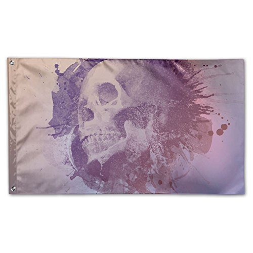Colby Keats Skull Artwork Garden Lawn Flags Indoor Outdoor Decoration Home Banner Polyester Sports Fan Flags 3 X 5 Foot