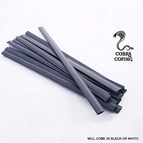 Coping Strips for Above Ground Pool Liners, Plastic clips for Overlap Pool Liner Replacement (15' x 25' Oval - Qty 35)