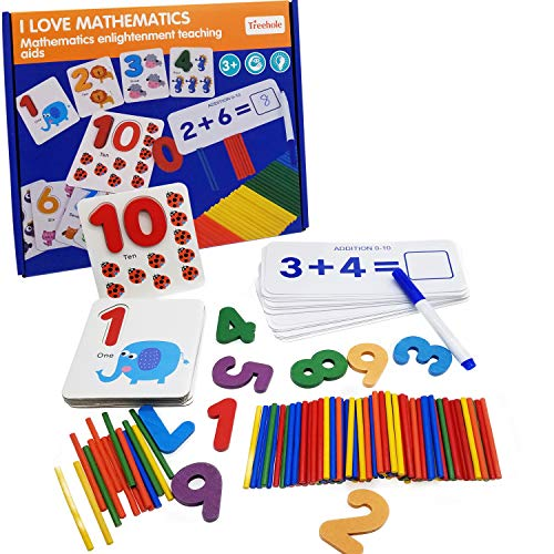 ERZA SCARLET See and Spell Learning Toys Sight Number Games Matching Number Puzzles Montessori Preschool Educational Toys for Kids Boys Girls Age 3+ Years Old