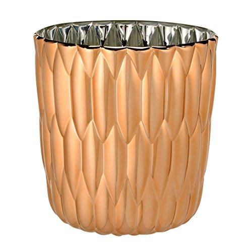 Kartell Jelly Metallic Vase, Kupfer Ø23.5cm H 25cm
