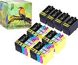 Ink Hero - Cartucho de Tinta refabricado para Usar en Lugar de Epson 27XL T2711 T2712 T2713 T2714, Workforce WF-3620DWF WF-3640DTWF WF-7110DTW WF-7610DWF WF-7620DTWF WF-7620DWF WF-7620TWF, Pack de 20