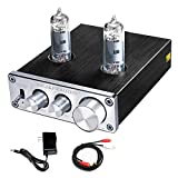 10. FX AUDIO Vacuum Tube Preamp—Mini Electronic Audio Stereo Pre-Amplifier Hi-Fi Bass and Treble Control Preamplifier with DC12V Power Supply for Home Audio Player (Silvery)
