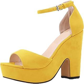 80fce7259d Amazon.it: scarpe donna gialle con tacco