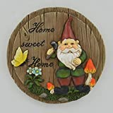 Prezents.com Home Sweet Home runder Zwergschild, klein & perfekt als Gartengeschenk, 15 cm