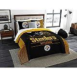 Pittsburgh Steelers NFL Full/Queen Comforter & Pillow Shams (3 Piece Bedding Set)