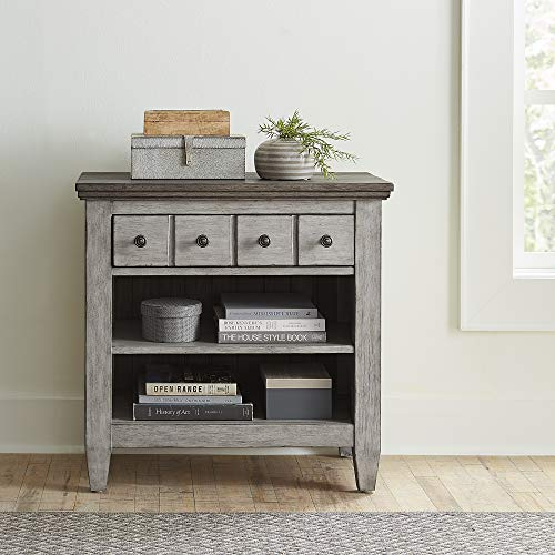 Liberty Furniture Industries Heartland 1 Drawer Night Stand with Charging Station, Antique White